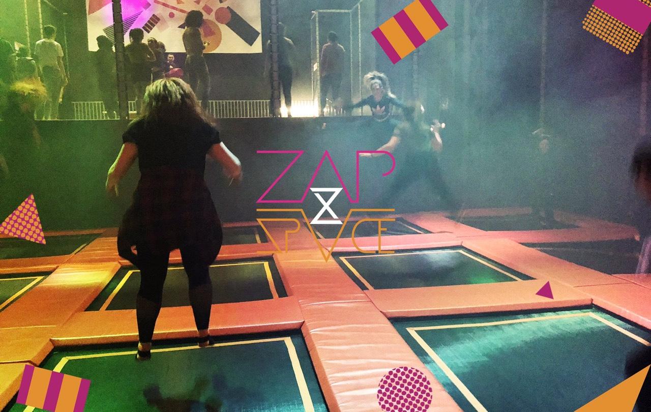 trampolining fun at zapspace