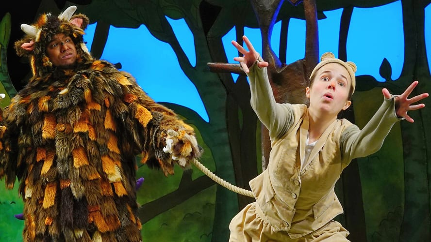 The Gruffalo on stage at the Lyric Theatre