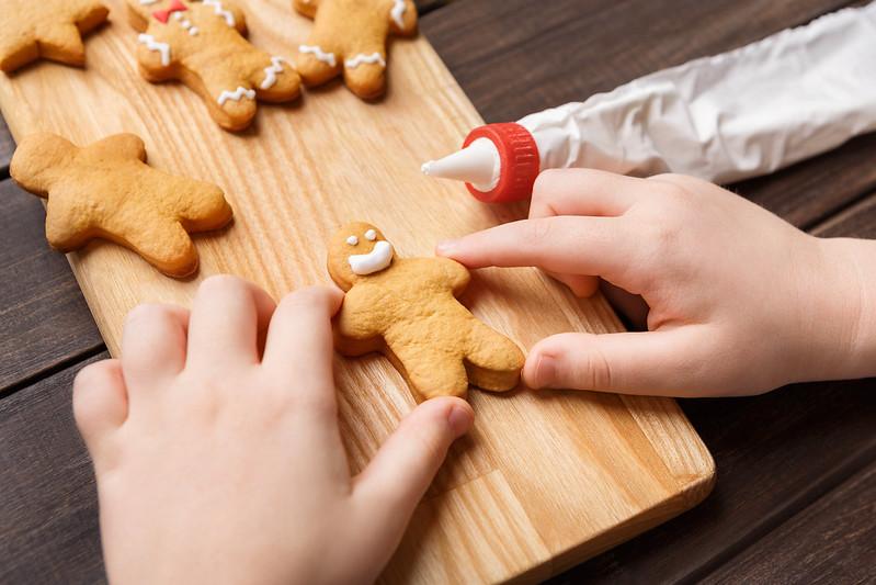 cookie decorating.