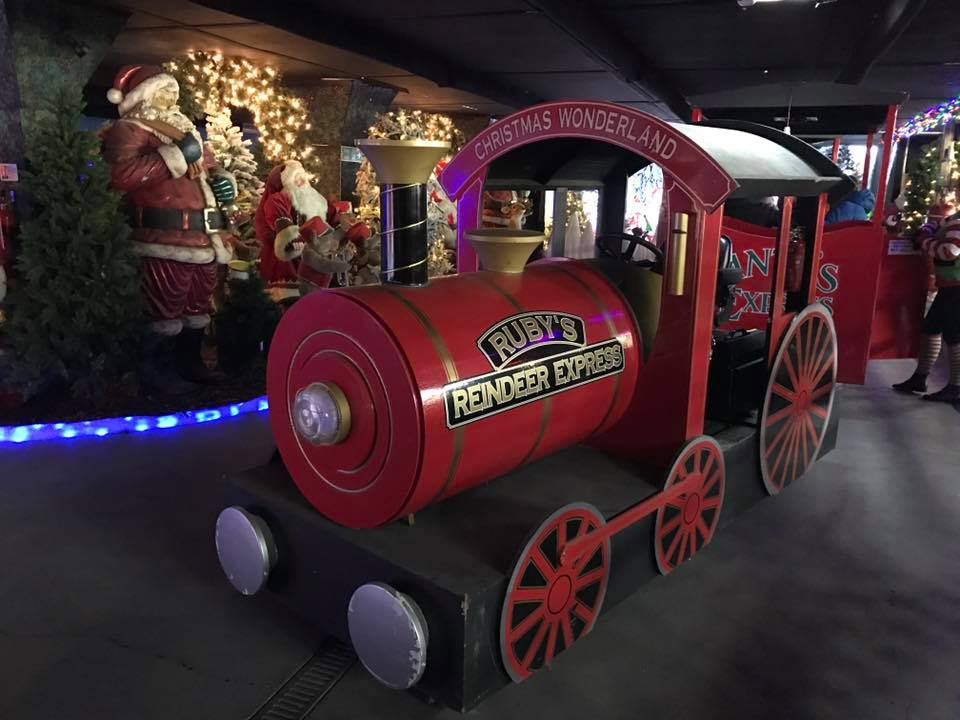 Christmas Wonderland train at Springtime Nurseries