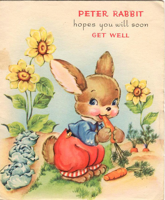 Peter Rabbit get well soon