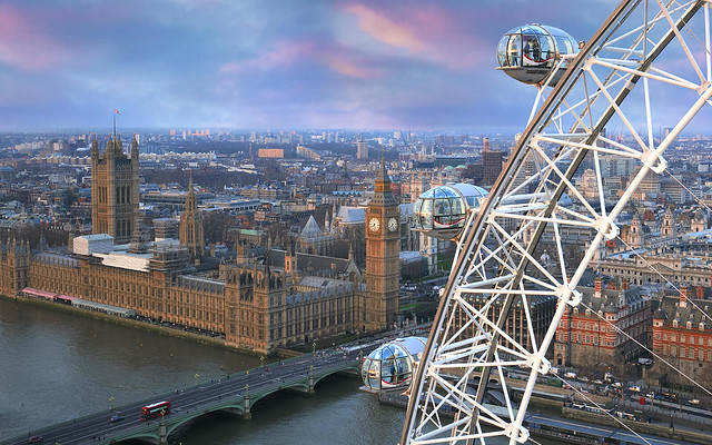 View of London with London Eye