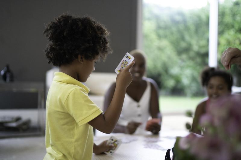 Children making your own fun card games
