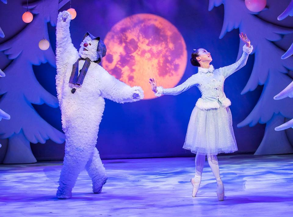 Snowman performed in a theatre