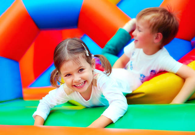 Bouncy castle at Jewish Care
