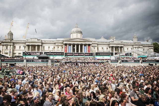 Trafalgar Square has hosted large gatherings throughout history