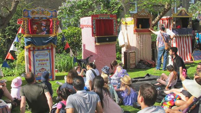 Four puppet theatres in Covent Garden