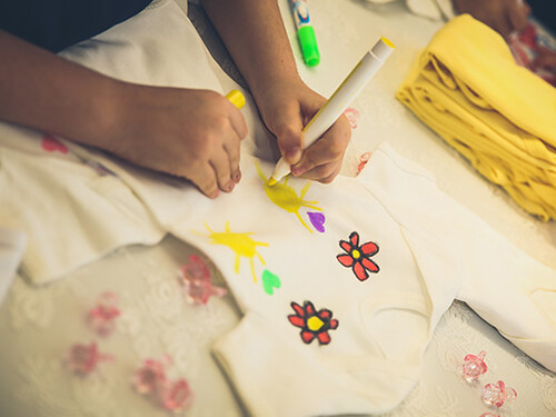 Upgrading old children's clothes is fun and sustainable.