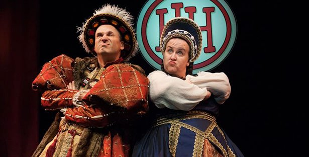 Two Tudors in Horrible Histories live onstage