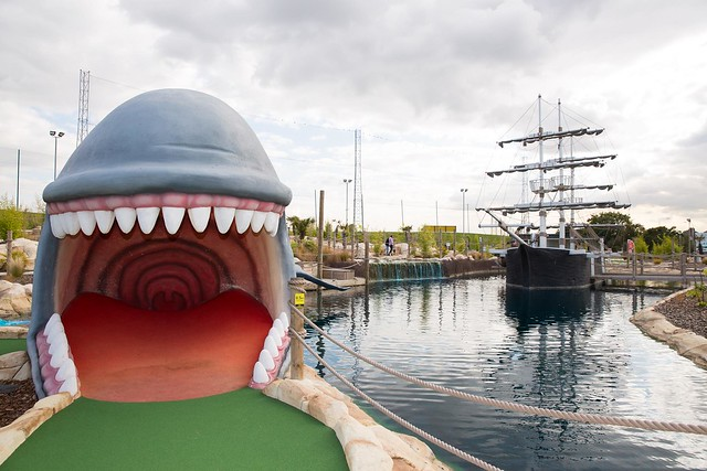 whale and pirate ship fun golf course