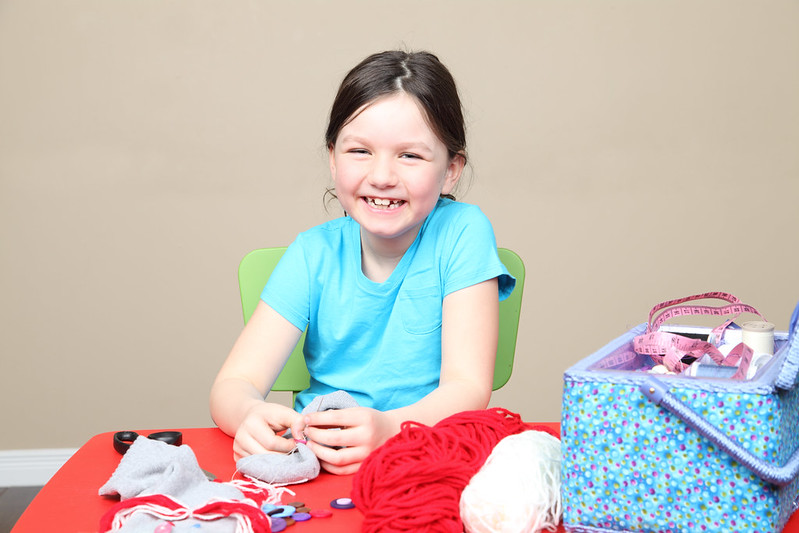 Needle felting crafts can be a great activity to do with the kids at home.