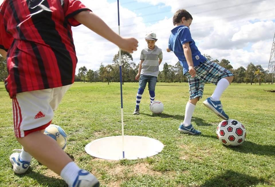 Enjoying Football Golf at Golf Kingdom