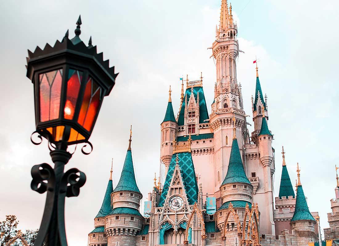 Cinderella's castle at Disney World in Orlando.