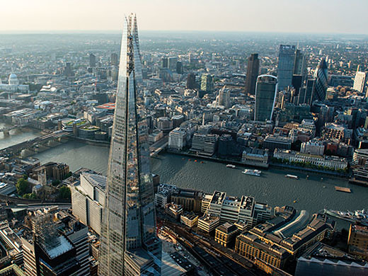 aerial view from the shard london bridge