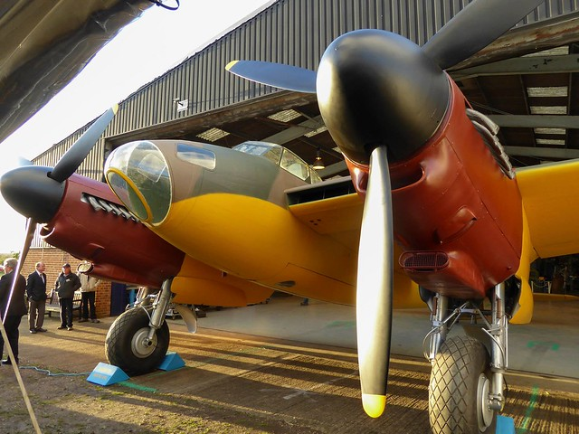 Aircrafts in a hanger at the De Havilland Aircraft Museum