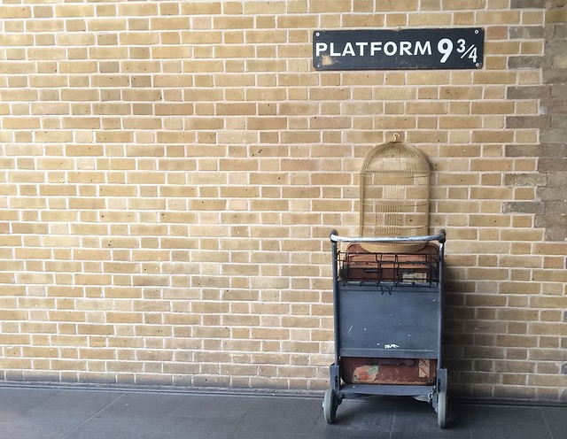 Platform 9 and 3/4s at Kings Cross station
