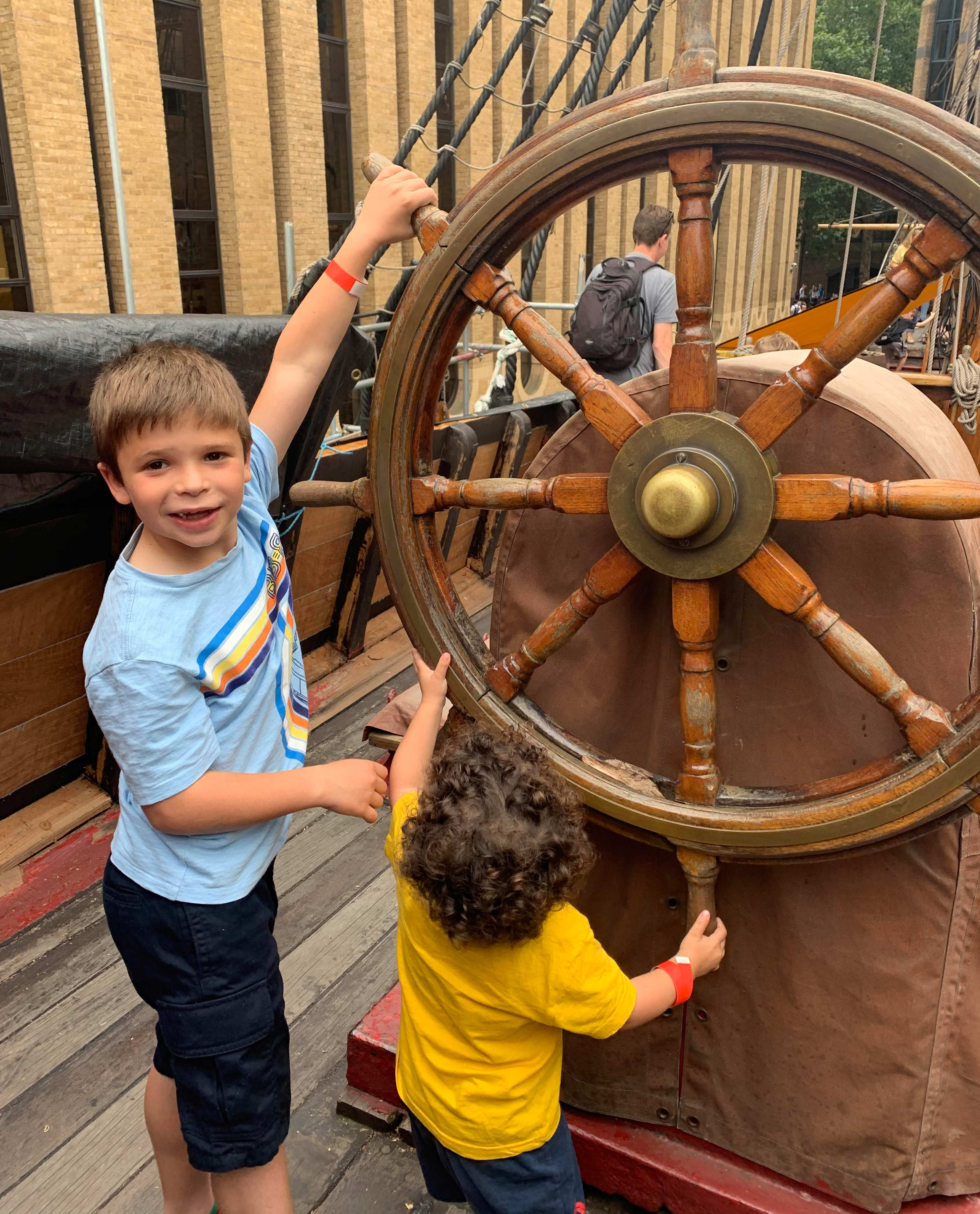 two captains steering the Golden HInde