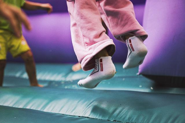 Jumping kids.