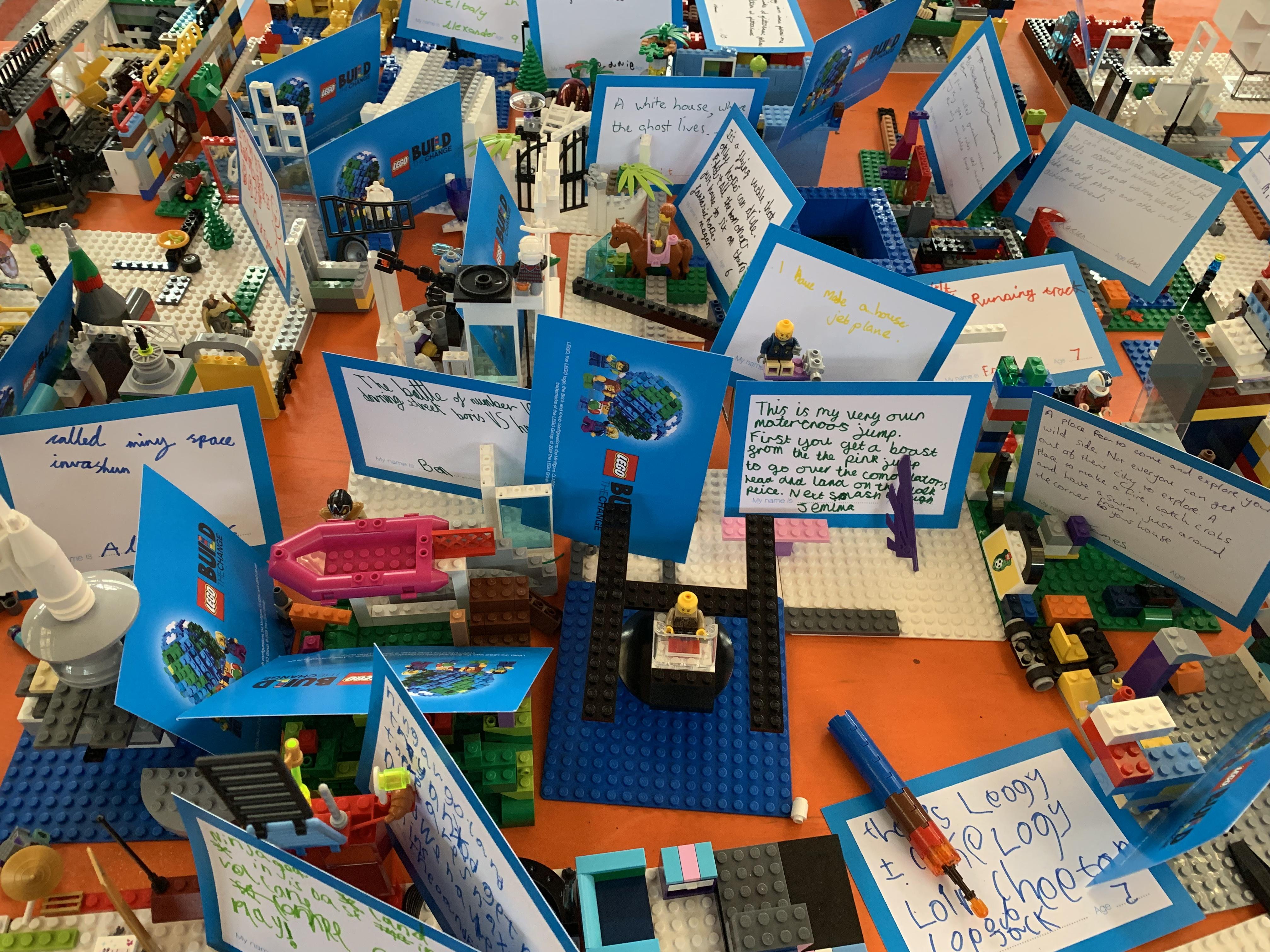 LEGO creations from Build the Change