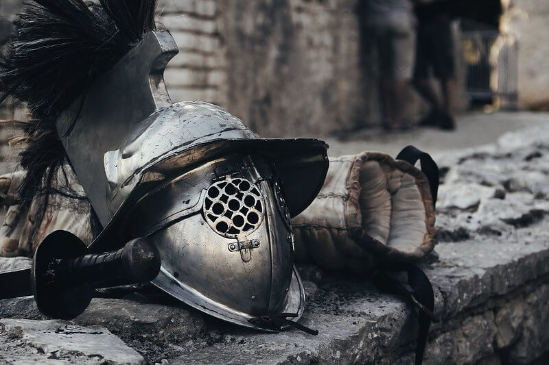 Roman helmet.