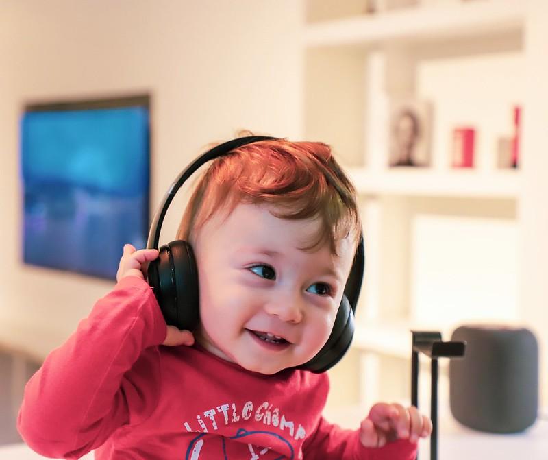 boy listening to audiobook