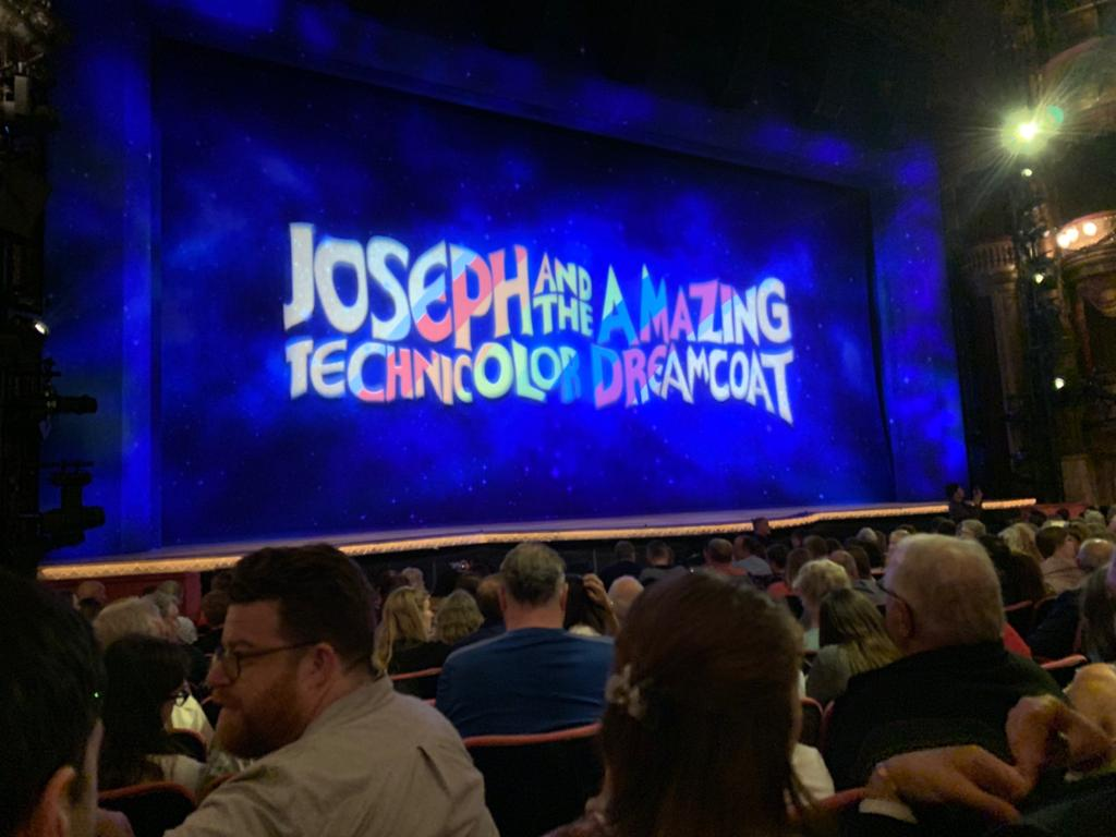 The view from my seat at Joseph and The Amazing Techniolor Dreamcoat at the London Palladium
