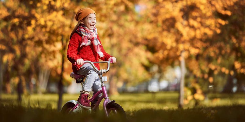 autumn bike rides in the park