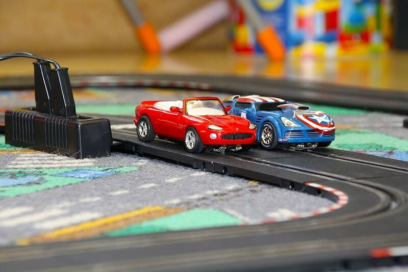 Cars on a race track inspiring car puns