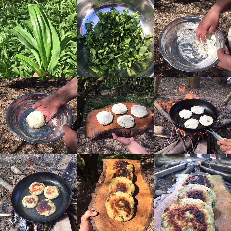 Wild Garlic Bannock Bread