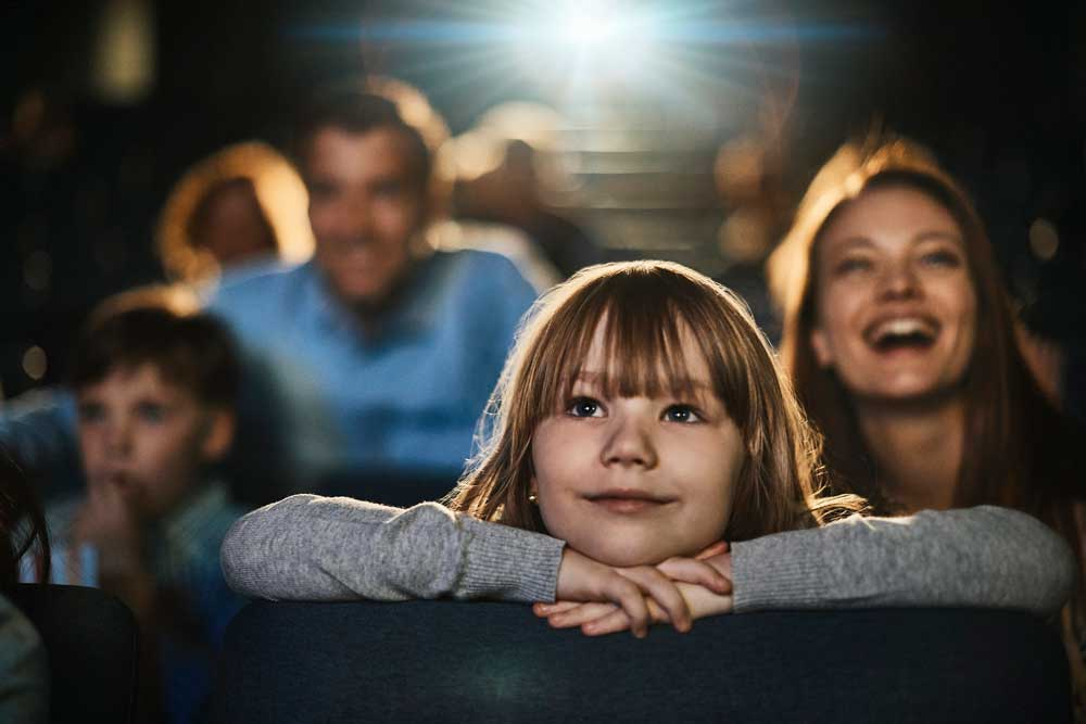 Child enjoying the theatre