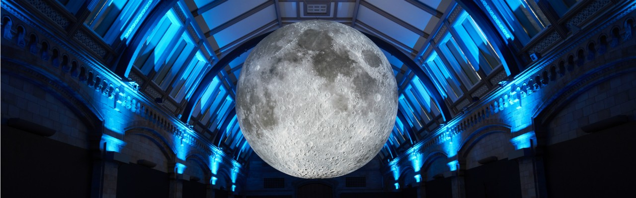 The moon at the Natural History Museum.