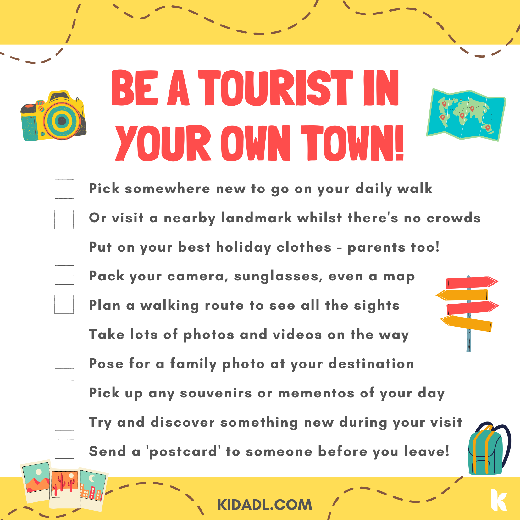 tourist in your town