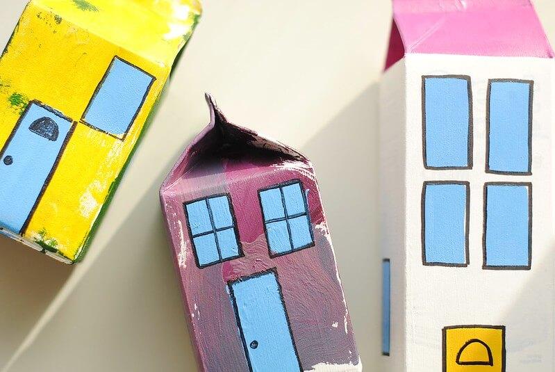 Stack to store children's art