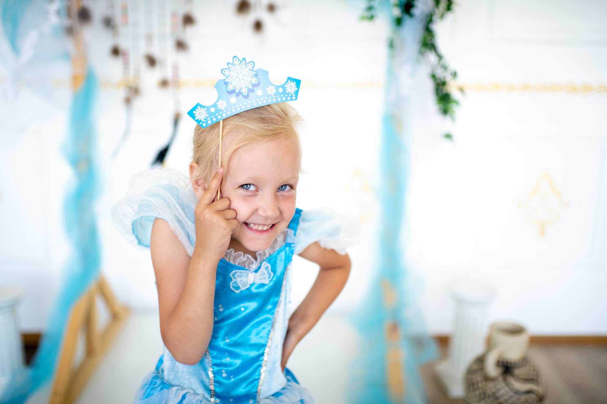 Girl dressed as a princess