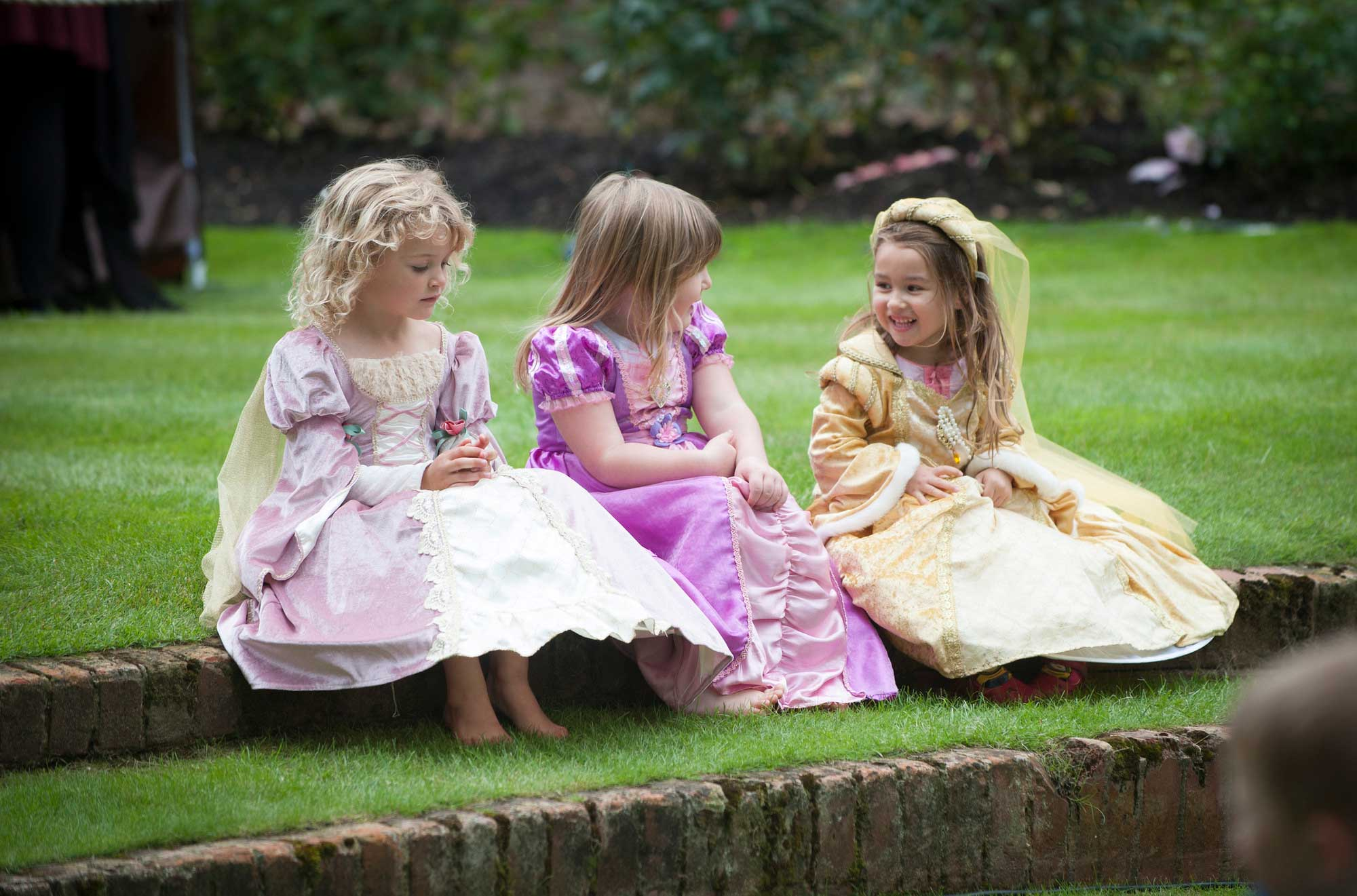 Dressing up like royalty can make the kids feel like a prince or princess for the day.