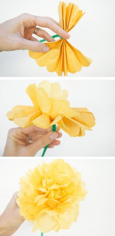 Paper Marigold Instruction