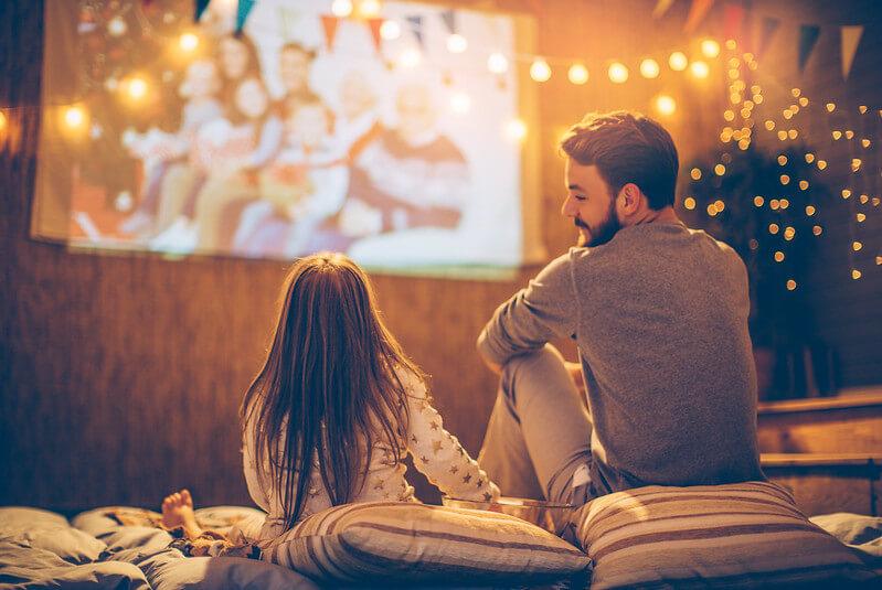 homemade cinema with dad