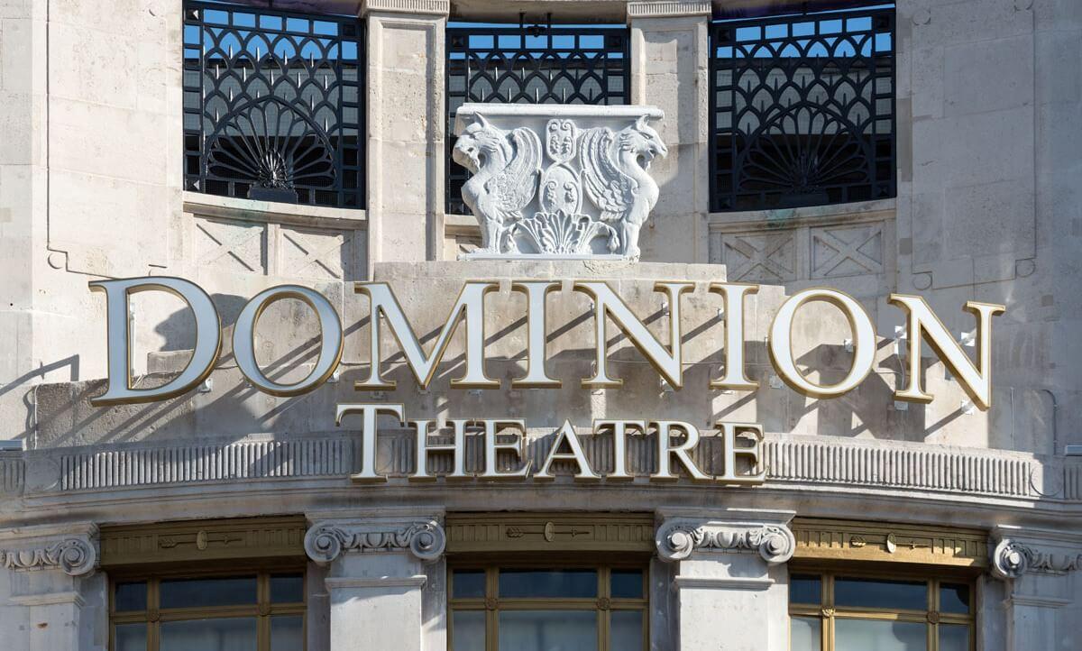 Dominion Theatre entrance.