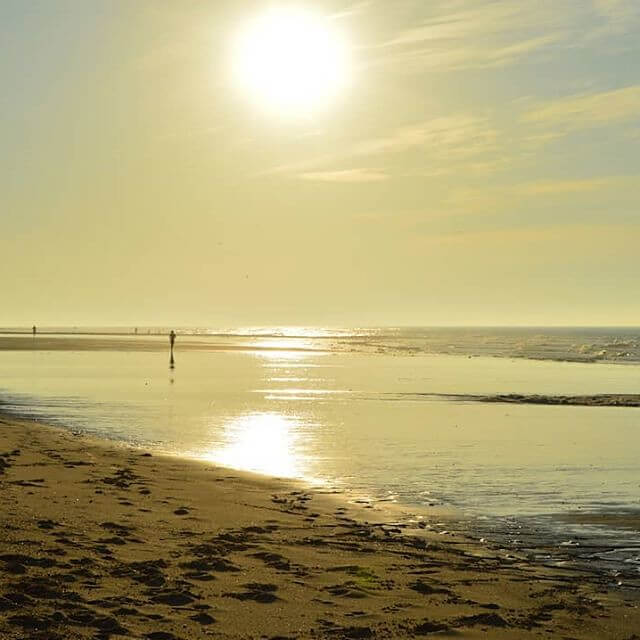 Sun in Cromer Beach, Norfolk