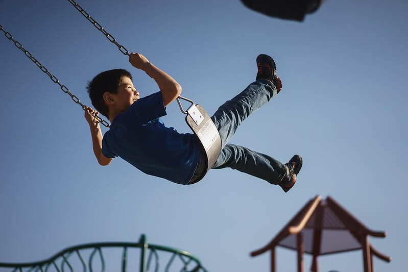 Child Stays Safe At Playgrounds Post-Lockdown