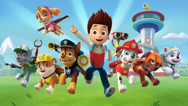The cast of Paw Patrol.