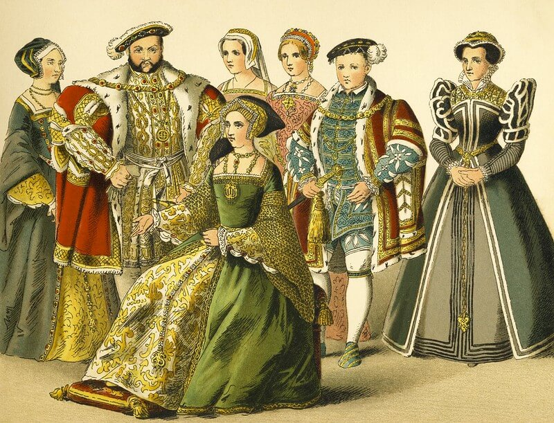 An illustration of the Tudor Family to be used by children for their Tudor Children Fact File