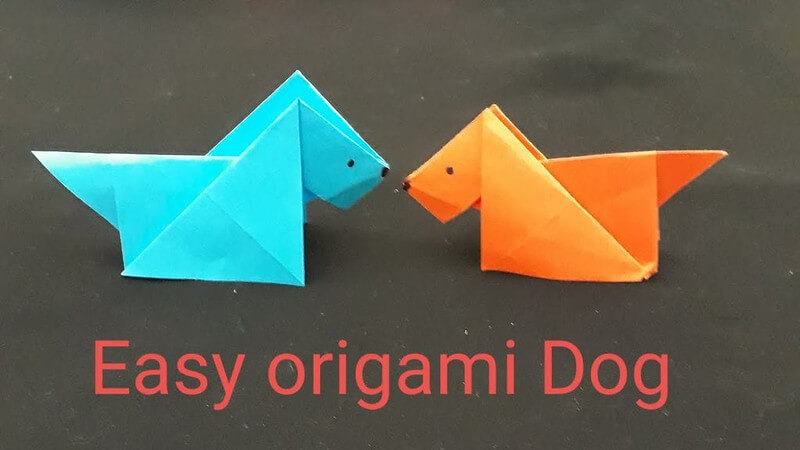 Paper Art Projects - Origami Dog