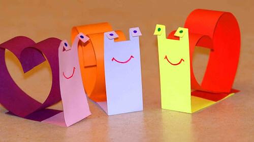 Paper Art Projects - Snails