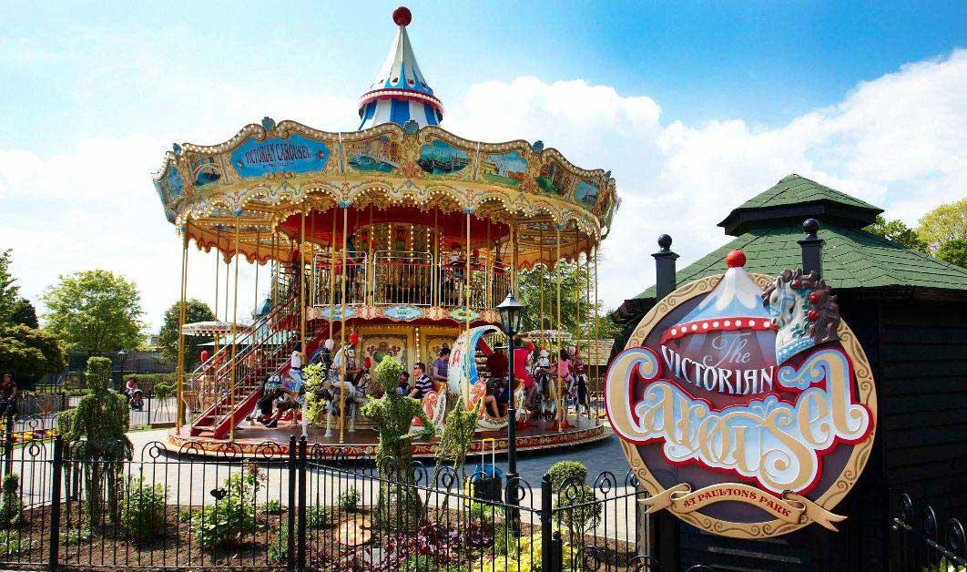 victorian carousel at paultons park