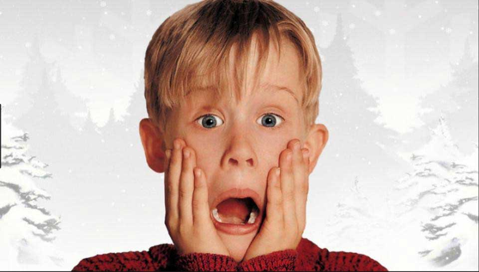 Kevin McAllister in his iconic shocked pose.