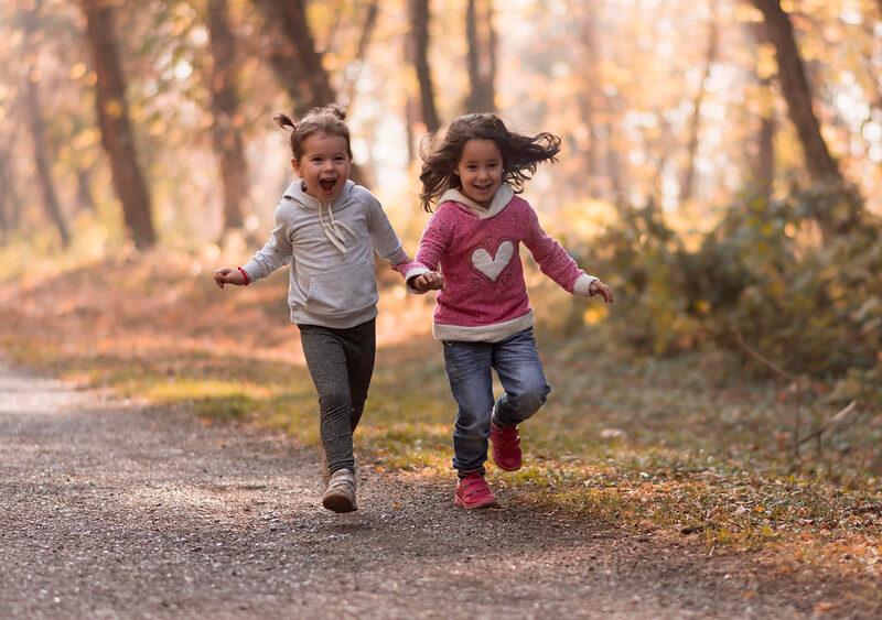 kids in yorkshire woods