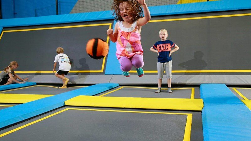 toddler at trampoline park london