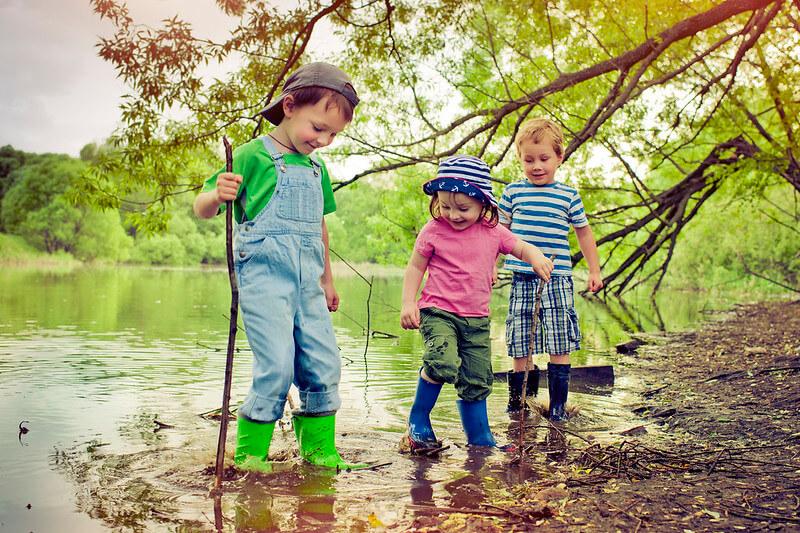 Kids doing stick man activities in UK