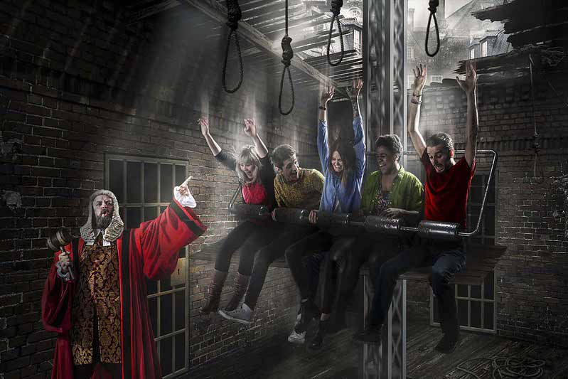 Drop Dead Drop ride at the London Dungeon.
